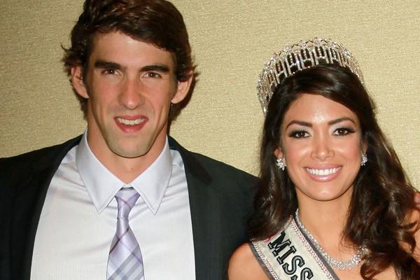 """Michael Phelps từng """"nghỉ hưu"""" để hỗ trợ cho Nicole Johnnson thi Hoa hậu."""