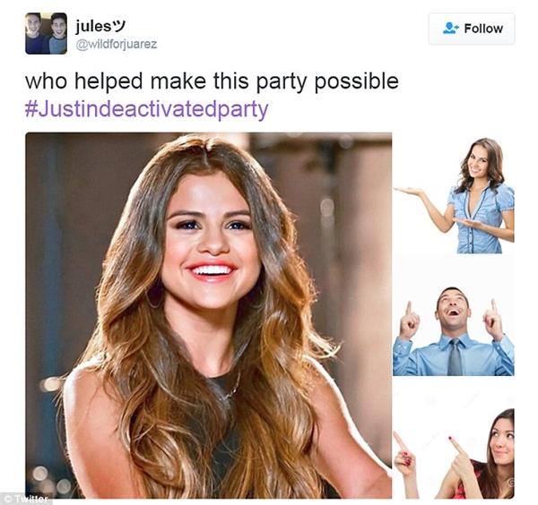 """""""Ai là người giúp bữa tiệc mừng Justin vô hiệu hóa tài khoản được diễn ra? Chính là Selena"""""""
