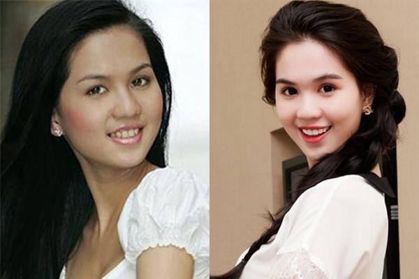 Dung nhan Ngọc Trinh cùng dàn mỹ nhân trước và sau khi