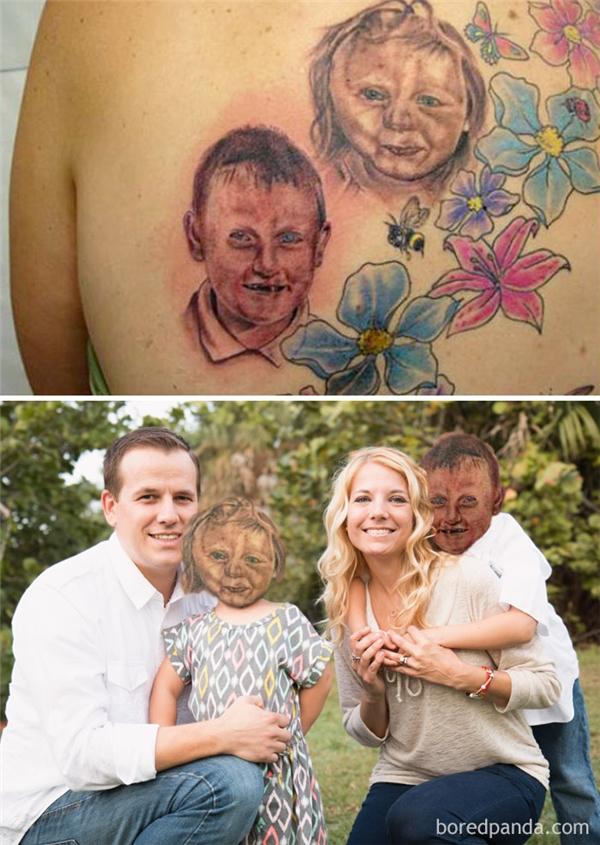 Bức ảnh gia đình trông có chút gì đó ma mị đáng sợ.