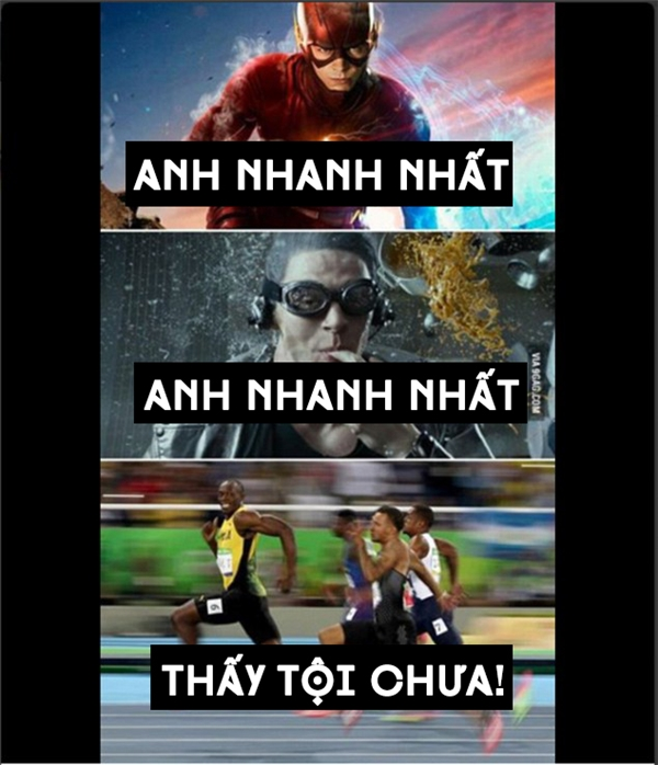 """Mặc Flash với Quick Silver tranh nhau ngôi vị """"Người đàn ông nhanh nhất hành tinh"""" đi, cứ quay sang xem Usain Bolt thi đấu đã."""