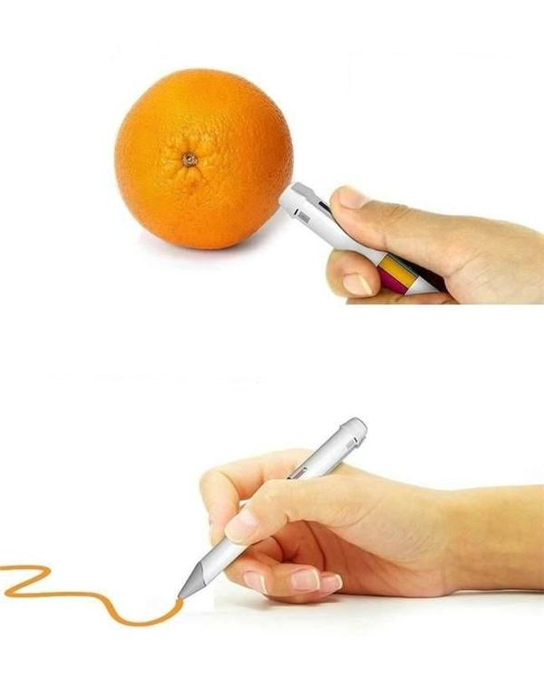 Cây bút kì lạ có khả năng nhận dạngmàu và viết ra màu tương tự.