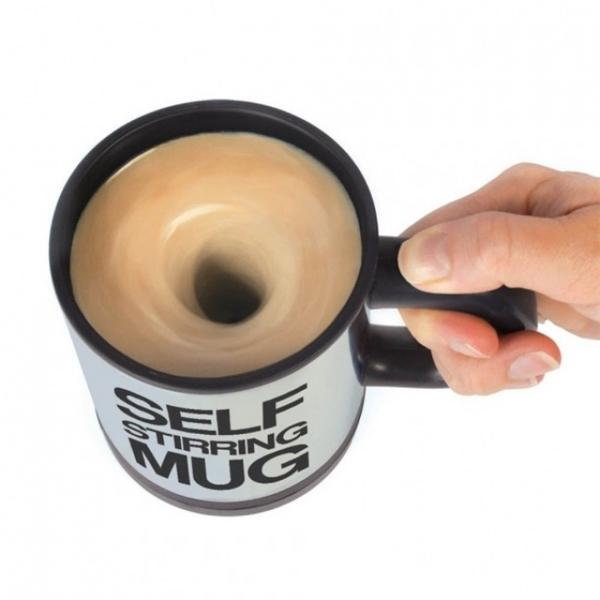 Có chiếc ly tự khuấy cà phê thế này thì không còn lăn tăn chạy đi tìmmuỗng mỗibữa sáng nữa nhé.