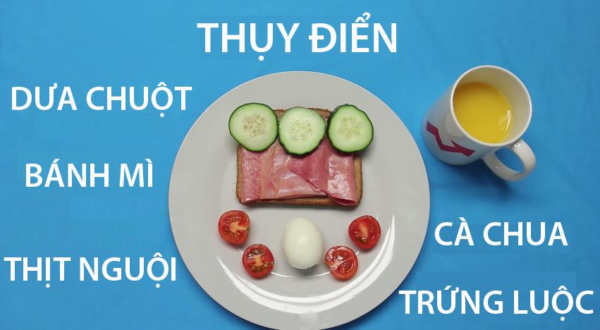 13. Thụy Điển -Bữa ăn sáng điển hình ở Thụy Điểnlà 2 látbánh sandwich nướngkẹpvới thịt nguội, dưa chuột, cà chua và trứng luộc lòng đào.