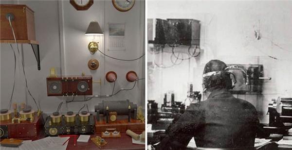 Phòng điện tín, nơi hành khách có thể đánh điện và báo tin cho người thân.