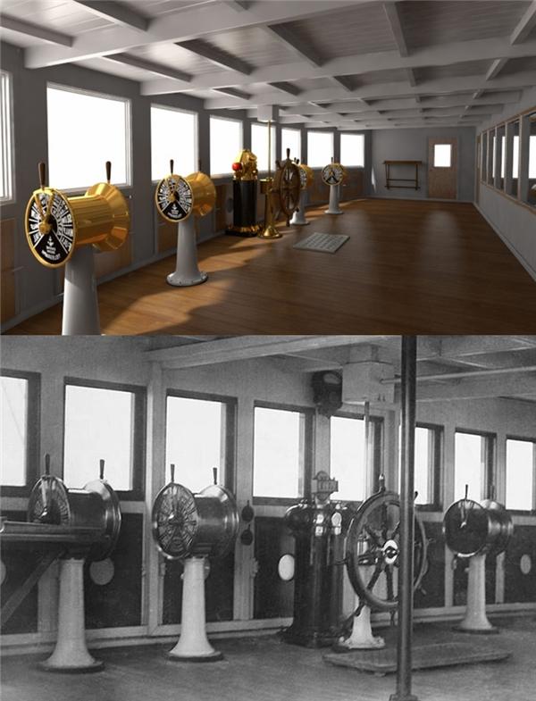Đây là khu chỉ huy con tàu của thuyền trưởng.