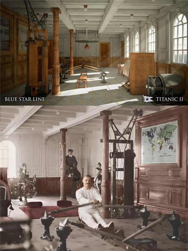 Khu vực tập gym phong cách cổ xưa.