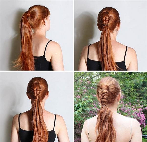 Phiên bản đuôi cá uốn lượntrên chính mái tóc của bạn.