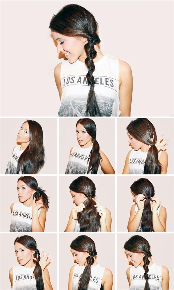 4 sợi dây thun và 4 lần xoắn tóc, thật đơn giản đúng không?