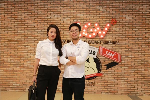 Đạo diễn Đinh Tuấn Vũ và diễn viên Thúy Hằng.