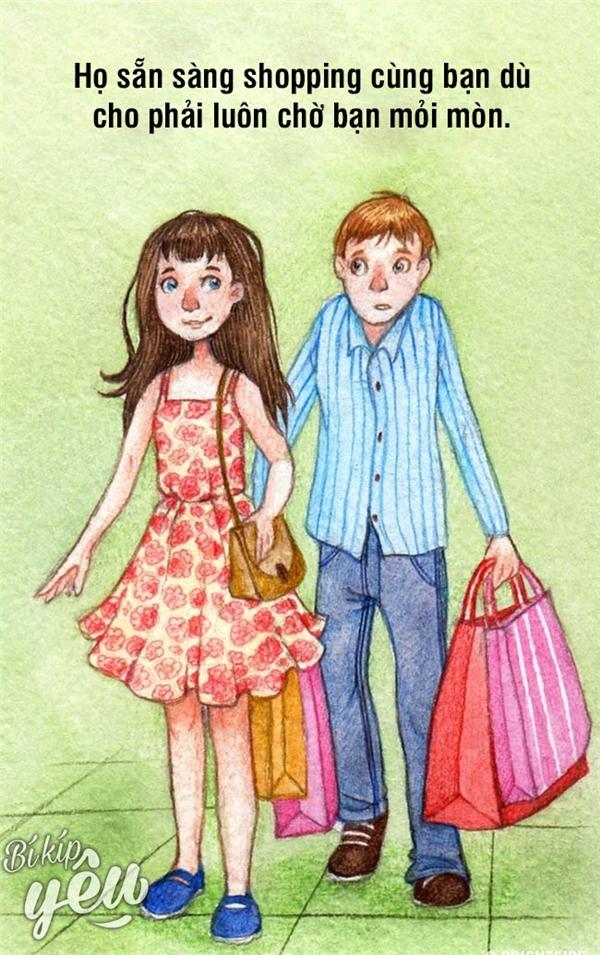 """Họ chẳng thích phải chờ đợi nhưng vẫn cùng bạn """"lalết"""" từ nơi này sang nơi khác để shopping."""