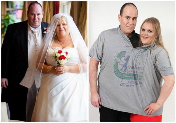 Noel và Leisa giảm được 167kg. Bạn thấy đấy, giờ họ có thể cùng nhau lọt vừa một cái áo.