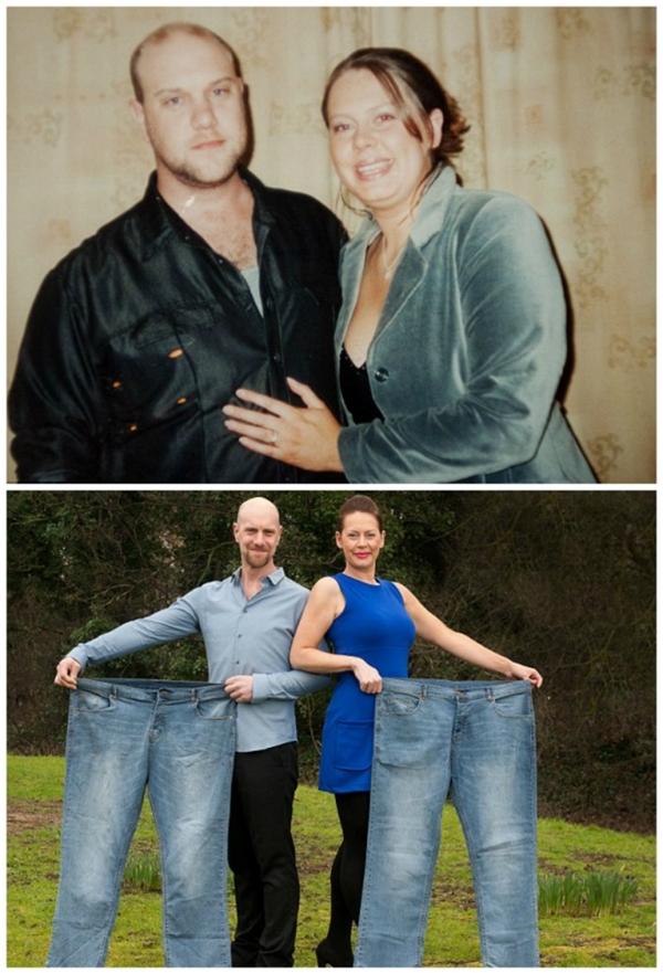 Michelle và Pete tự tin hơn hẳn sau khi giảm được gần 100kg.