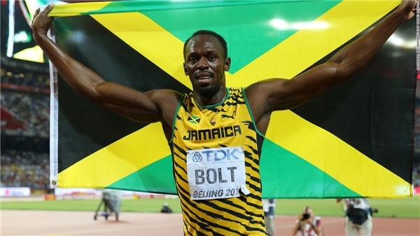 """Tia chớp đen"" Usain Bolt.(Ảnh: Internet)"