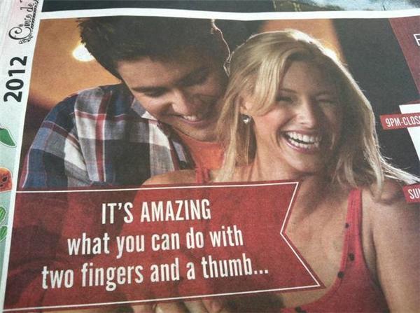 Thật tuyệt vời với những gì bạn có thể làm từhai ngón tay và một ngón cái... Là cái gì vậy ta?(Ảnh: Internet)