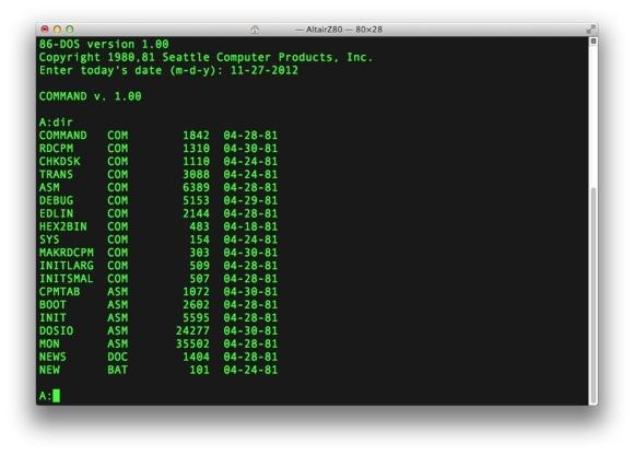 Hệ điều hành 86 DOS của Microsoft.
