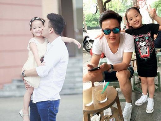 """Ông bố luôn vào những vai """"soái ca"""" trên màn ảnh nhỏ, là thần tượng của rất nhiều fan nữ phim truyền hình Việt Nam, cô con gái giống bố y đúc lại rất lém lỉnh, dễ thương và có gu thời trang sành điệu. - Tin sao Viet - Tin tuc sao Viet - Scandal sao Viet - Tin tuc cua Sao - Tin cua Sao"""
