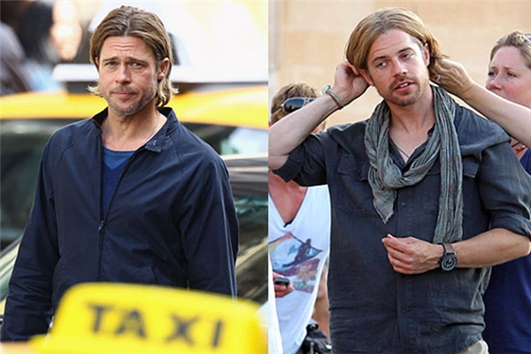 Brad Pitt (trái) & Rick English, World War Z