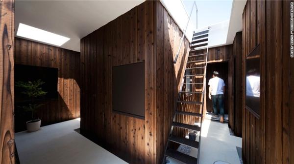 Đội ngũ Atelier Tekuto chuyên sử dụng vật liệu tự nhiên như gỗ tuyết tùng, gạch đá mài…(Ảnh: CNN)