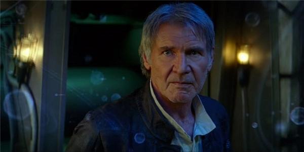 Harrison Ford trong phim Star Wars những phần đầu (ảnh trên) và trong phần mới nhất (ảnh dưới)