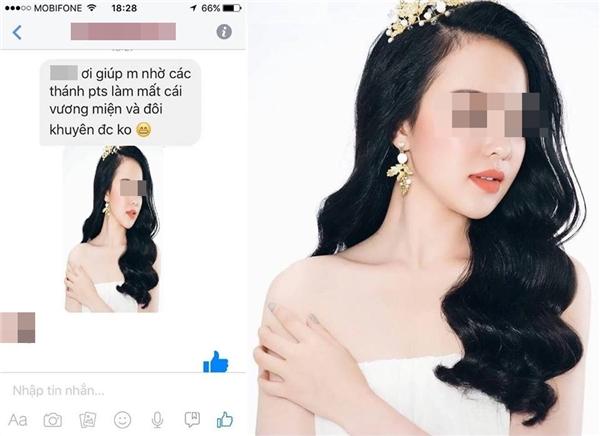"""Cô gái nhờ các """"thánh"""" photoshop xóa hộ vương miện và khuyên tai. (Ảnh: Internet)"""