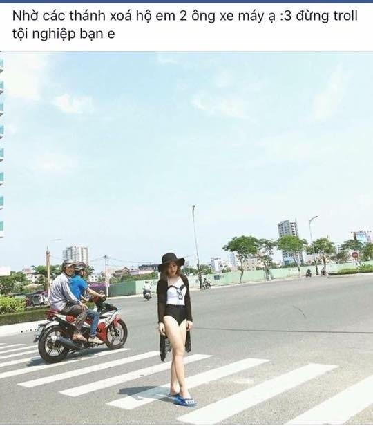 Cô ấy muốn xóa hai người đi xe máy phía sau thì sao?.(Ảnh: Internet)