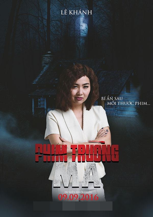 Trong khi đó, nhà sản xuất vui tính do Lê Khánh thủ diễn lại biểu lộ ánh mắt đáng ngờ.