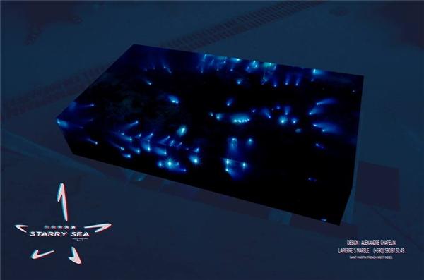 Có cả những chiếc bàn đặc biệt có thể phát sáng trong bóng tối.