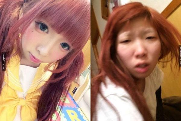 Cô gái người Nhật từng khiến bạn bè qua mạng và người yêu choáng ngợp trước nhan sắc long lanh, nhờnhững bức ảnh tự sướng đăng tải trên mạng xã hội.