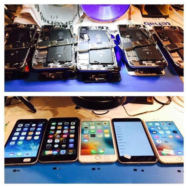 Hàng loạt mẫu iPhone 6 và iPhone 6 Plus bị liệt cảm ứng. (Ảnh: internet)