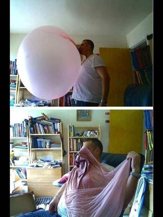 Đây là lần cuối tôi thấy anh ấy thổi bong bóng bằng kẹo cao su.