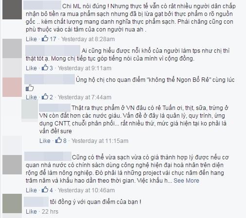 Cộng đồng mạng bày tỏ sự đồng tình trước chia sẻ của nữ ca sĩ. Ảnh: facebook Mỹ Linh - Tin sao Viet - Tin tuc sao Viet - Scandal sao Viet - Tin tuc cua Sao - Tin cua Sao