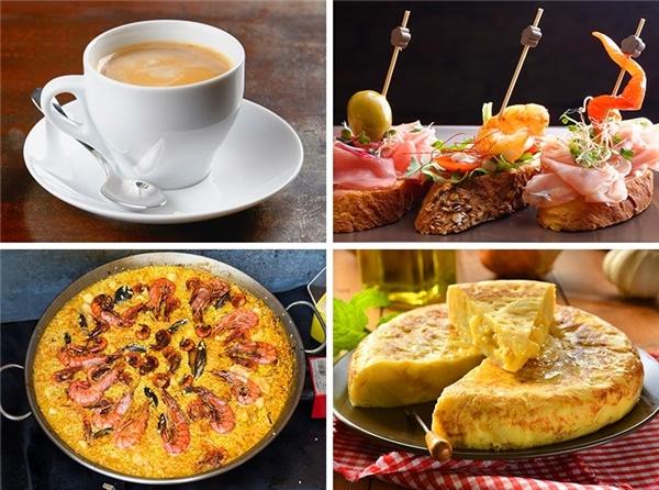 Ở Tây Ban Nha, với 600 nghìn, bạn có thể có một bữa ăn no nê tại một nhà hàng bình dân. Ngoài ra, bạn có thể thưởng thức các món ăn truyền thống của người Tây Ban Nha tại một quán bar có bán đồ ăn mặn.