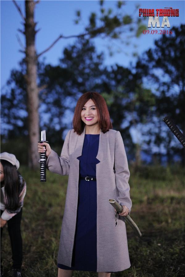 """Nữ diễn viên Lê Khánh sẽ hóa thân thành nhân vật khá vui tính và đầy""""bá đạo"""" tại Phim Trường Ma."""
