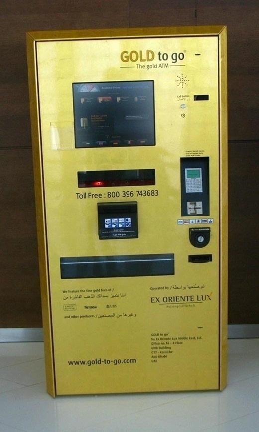 Bên cạnh trụ ATM rút tiền, ởDubai còn có cả trụ ATM rút vàng.