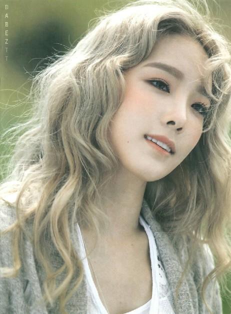 Taeyeon được xem là thần tượng diện tóc khói đẹp nhất xứ Hàn.