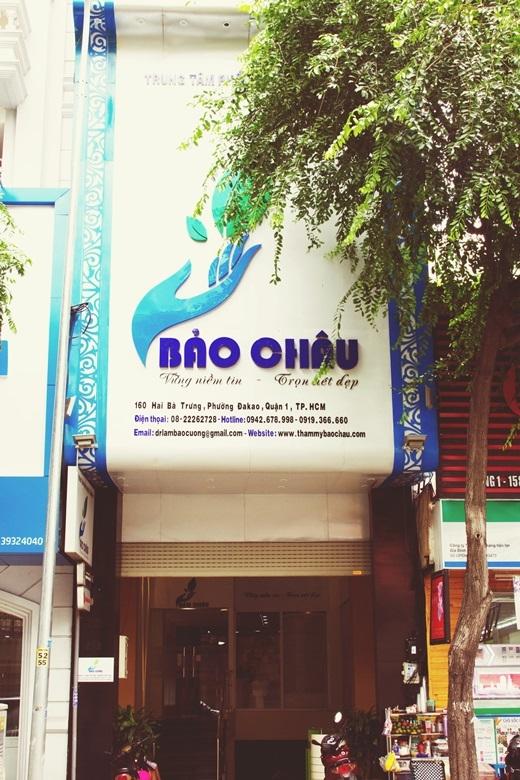 Viện thẩm mĩBảo Châu tọa lạc tại 160 Hai Bà Trưng, Phường Đa Kao, Quận 1.