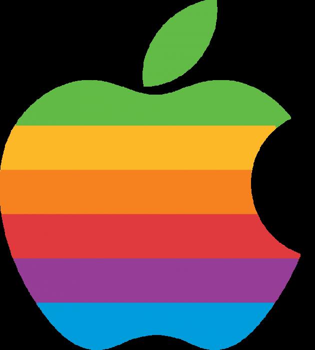 Logo đầu tiên có hình quả táo khuyết, tồn tại 22 năm.