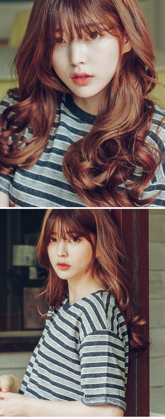 Những kiểu tóc nhuộm màu nâu quế cực đẹp
