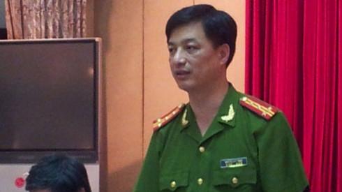 Đại tá Nguyễn Duy Ngọc, Phó Giám đốc Công an TP Hà Nội trực tiếp có mặt tại hiện trường chỉ đạo điều tra làm rõ vụ án mạng. Ảnh: inernet