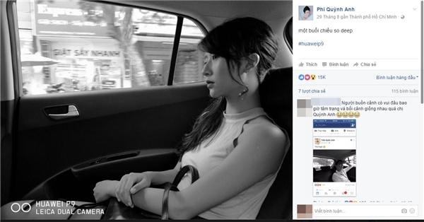 Quỳnh Anhchia sẻ bức ảnh vào lúc 6g30 phút chiều.(Ảnh: Internet)