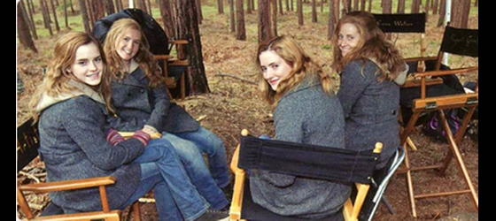 Emma Watson trong phim Harry Potter andthe Deathly Hallows - Part 1 và các diễn viên đóng thế