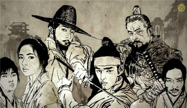Six Flying Dragonchủ yếu nói về hành trình cuộc đời của Lee Bang Won - vì vua thứ ba của triều đại Joseon cùng 6 người đồng hành. (Ảnh: Internet)