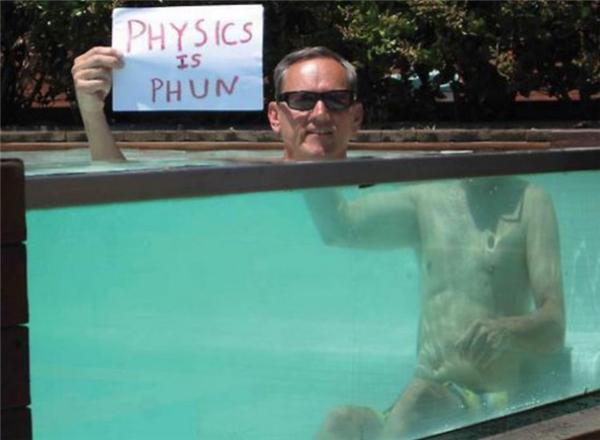 Hiện tượng khúc xạ ánh sáng trong môi trường nước thôi mà.