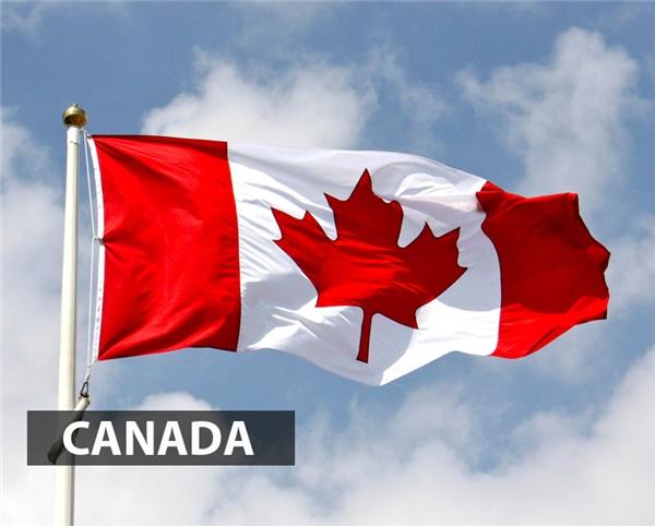 Quốc kỳ Canada hay còn đượcgọi làLá phonggồm 2 màu trắng đỏ chủ đạo vàmột chiếclá phong đỏ cách điệu với 11 đầu nhọn.Màuđỏ biểu tượng nước Anh và màu trắng biểu tượng hoàng gia Pháp. Giữa lá cờ chiếc lá phong, được sử dụng như biểu tượng của Canada từ năm 1700.