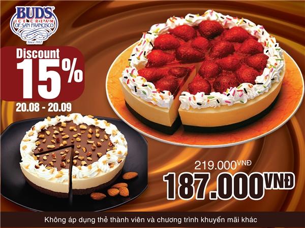 Bud's ra mắt bánh Pie với 2 hương vị chính từ dâu tây và chocolate