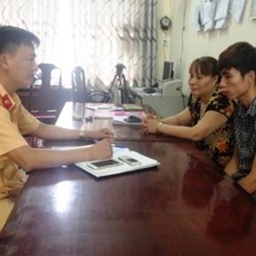 Tại cơ quan công an, Cảnh thừa nhận hành vi vi phạm luật giao thông