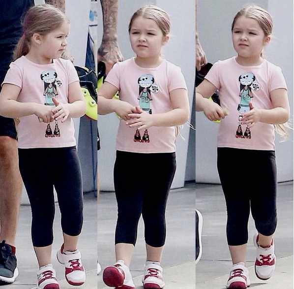 Tan chảy trước hình ảnh con gái Beckham diện váy áo siêu sành điệu