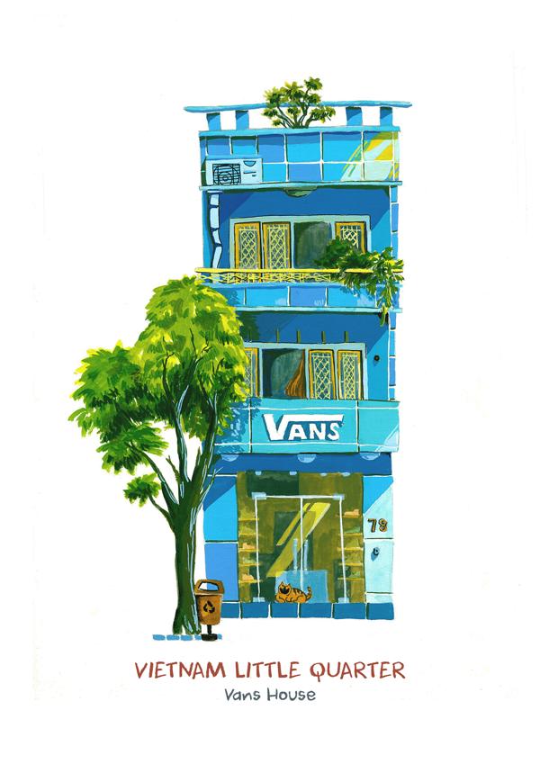 """Ngắm Sài Gòn """"thu nhỏ"""" trong một bộ tranh không thể không yêu"""