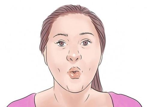 Bài tập này yêu cầu bạn phải thở sâu. Mỗi khi bạn thở ra, bạn chu môi lại và thổi ra, thực hiện trong 30 giây cho đến 1 phút.